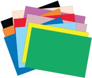 Roselle Vibrant Construction Paper, 50 count, 12 x 18 Inches, Assorted (CON00121850): Office Products