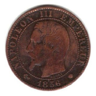 1856 MA France 5 Centimes Coin KM#777.6   Napoleon III  Collectible Coins