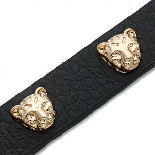 R.J. Graziano Animal Stud Leather Bracelet