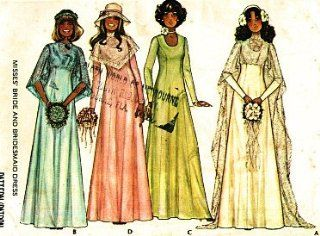 McCall's 5239 Wedding Dress Bridesmaid Dresses Sewing Pattern Vintage 1976: Everything Else