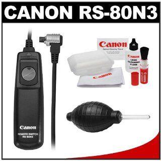 Canon RS 80N3 Remote Switch Shutter Release Cord + Cleaning Kit for EOS 30D, 40D, 50D, 7D, 5D, 1D Mark II N II IV & 1Ds Mark II III Digital SLR Cameras: Camera & Photo