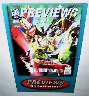 "17 by 11"" Alex Ross Previews 2003 JLA Liberty & Justice Promo Poster: Superman/Wonder Woman/Batman/Green Lantern/the Flash/Martian Manhunter/Aquaman : Prints : Everything Else"