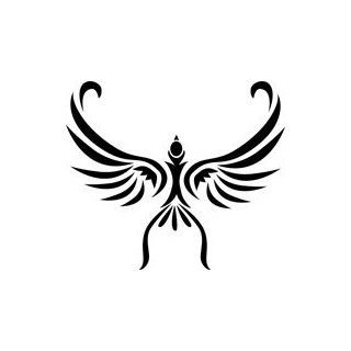 Soaring Bird Tribal Tattoo Stencil   36 inch (at longest point)   14 mil heavy duty: Industrial & Scientific