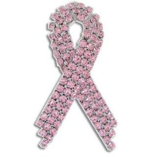 Pink Rhinestone Breast Cancer Ribbon: Jewelry