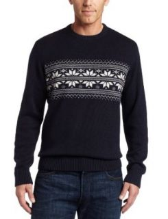 Nautica Men's 7gg Jacquard Crew Sweater, Deep Sea Navy, Medium at  Men�s Clothing store