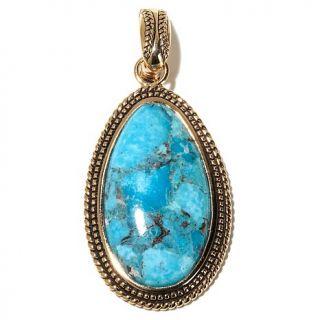 Studio Barse Gemstone Bronze Drop Pendant