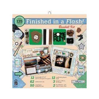 New   Finished In A Flash Page Kit 12X12   Baseball by Hot Off The Press Arts, Crafts & Sewing