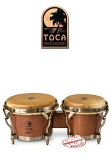Toca Traditional Series Bongos Dark Walnut 3900D: Musical Instruments