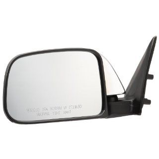Pilot 89 95 Toyota Pickup Dual Mirror Type w/ Vent Window Door Mount Manual Mirror Left Chrome/Black Smooth TY939410AL: Automotive