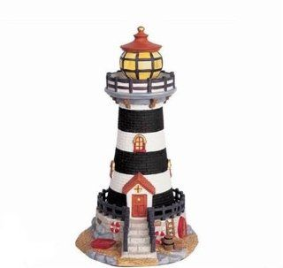 Forever Gifts Village Christmas Lighthouse   Holiday Collectible Buildings