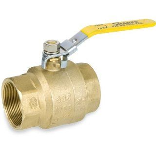 Sharpe Valves 1011TTE Series Brass Ball Valve, Inline, Lockable Lever Handle, NPT Female: Industrial & Scientific