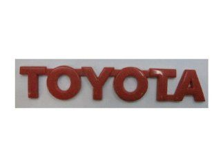 TOYOTA Red Size : 15.5 cm. Emblem Auto Car Accessories By Chrome 3D Badge 3M Adhesive: Automotive