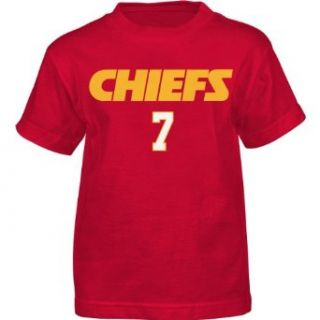 NFL Team Apparel Youth Kansas City Chiefs Matt Cassell Primary Gear Name and Number T Shirt   Size:: Clothing