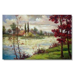 Italian Mediterranean Seascape Old Town Beach 106 Impressionist Landscape Oil Painting Canvas Art High Quality Home & Office Decor