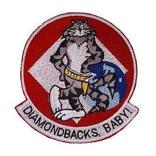 US Navy Fighter & Attack Squadrons Military Embroidered Iron on Patch   United States Navy Collection   Tomcat Diamondbacks VFA 102 Applique Clothing