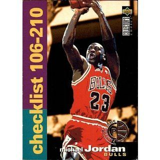 "Michael Jordan 1995 96 Collector's Choice ""Checklist 106 210"" NBA Card #210 (Chicago Bulls): Everything Else"