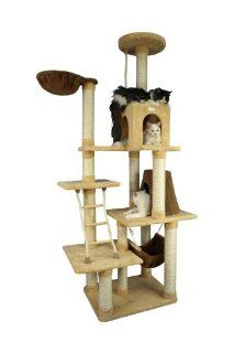 Armarkat 78 Inch Ultra Soft Premium Cat Tower Tree In Golden Rod