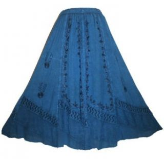 Agan Traders Women's Dance Gypsy Medieval Embroidered Renaissance Skirt: Clothing