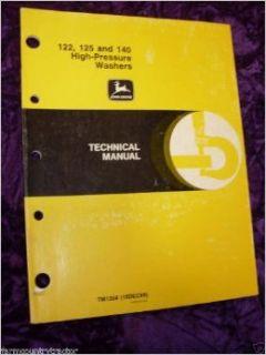 John Deere 122/125/140 Pressure Washers OEM Service Manual John Deere Books