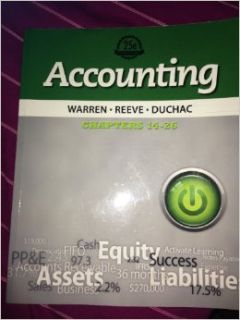 Accounting 122 (Accounting): Reeve, and Duchac Warren, n/a: 9781285069630: Books