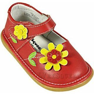Daisy Red mary jane shoes by Wee Squeak   Size 10: Baby