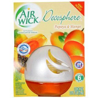 Air Wick Decosphere Air Freshener, Papaya & Mango, 2.5 Ounce Air Fresheners (Pack of 6): Health & Personal Care