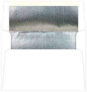 A7 Foil Lined Bulk Envelopes Silver Foil (1000 Pack): Office Products