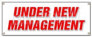 UNDER NEW MANAGEMENT BANNER SIGN brand owner owners management signs  Yard Signs  Patio, Lawn & Garden
