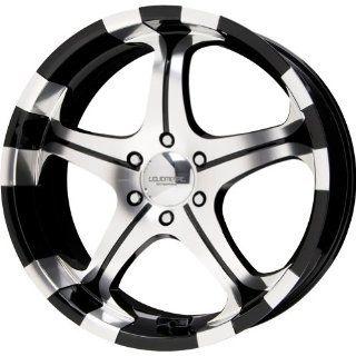 "Liquid Metal Flare Series Black Mirror Machined Wheel (22x9.5""/6x139.7mm) Automotive"