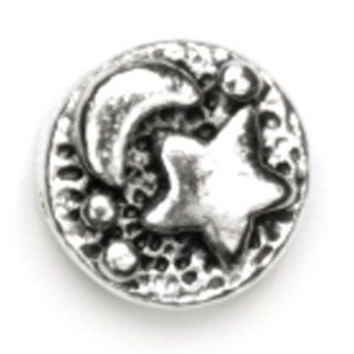 Cousin 25788 139 Precious Accents Silver Plated Metal Beads, 9 mm, Circle: Arts, Crafts & Sewing