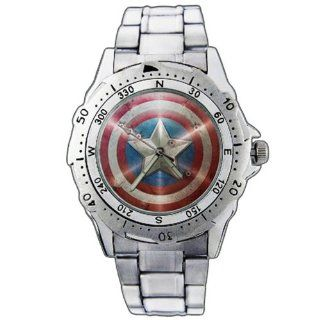 EPSP141 Captain America Super Hero Stainless Steel Wrist Watch: EPSP: Watches