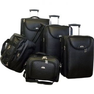 American Flyer Basketweave 5 Piece Luggage Set   Tan: Clothing