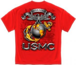 Usmc Marines T Shirt Semper Fidelis Marine Logo: Clothing