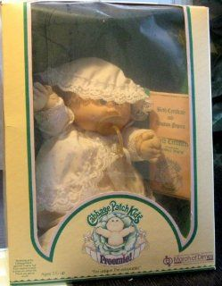 Cabbage Patch Kids 1985 Georgia Stacie Preemie Doll (in white lace dress): Toys & Games