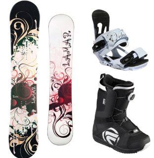 Lamar Rose Complete Women's Snowboard Package with Head Velvet Bindings and Flow Vega BOA Boots Board Size 148 Boot Size 10: Sports & Outdoors