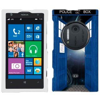 Nokia Lumia 1020 British Blue Police Box Open Doors to Space Phone Case Cover: Cell Phones & Accessories