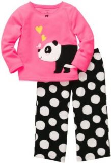 Carter's Girls 2 piece Micro Fleece Pajamas: Clothing