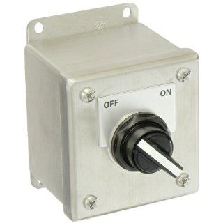 """Siemens 52C159S Heavy Duty Selector Switch Control Station, 2 Positions, Water and Oil Tight, 1 Command Points, """"OFF ON"""" Labeled, NEMA 4X Stainless Steel Protection,  1NO 1NC Contact Types Industrial & Scientific"""