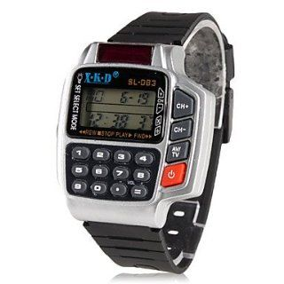 Men's Rubber Digital Automatic Wrist Watch with Multifunction (Black) #00392485 wrist watches best watches watches for men mens watches Remote Control TV DVD SAT VCR Calculator Wrist Watch #Al: 1197208301: Everything Else