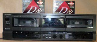 Technics Stereo Double Cassette Deck RS TR157 ~ Auto Reverse ~ Continuous Playback ~ LED Readout ~ Recording Tapes Included Electronics