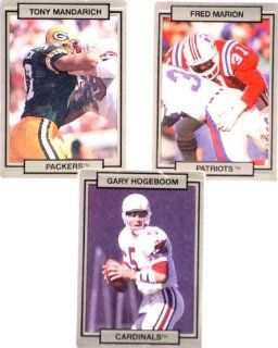 1990   Hi Pro Mktg   Action Packed   #86 Tony Mandarich / #165 Fred Marion   Patriots / #214 Gary Hogeboom   Cardinals   Like New   Out of Production   Collectible: Everything Else