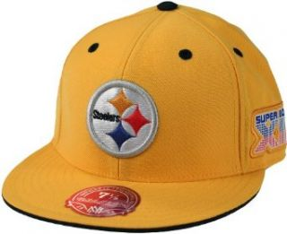 Pittsburgh Steelers NFL Mitchell & Ness, Super Bowl XIII Fitted Hat, Gold (7 1/8) at  Men�s Clothing store