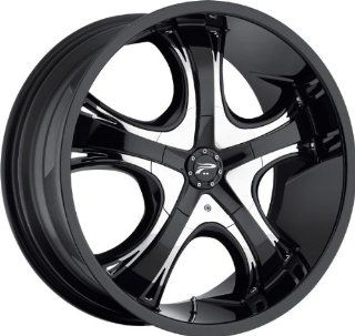 PLATINUM   type 415/416 patriarch   22 Inch Rim x 9   (5x4.75/5x4.5) Offset (32) Wheel Finish   gloss black with chrome inserts: Automotive
