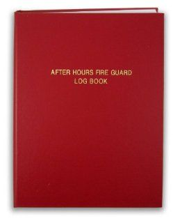 "BookFactory� After Hours Fire Guard Log Book   168 Pages, Red Cover, Smyth Sewn Hardbound, 8 1/2"" x 11"" (LOG 168 7CS LR (Fire Guard))"