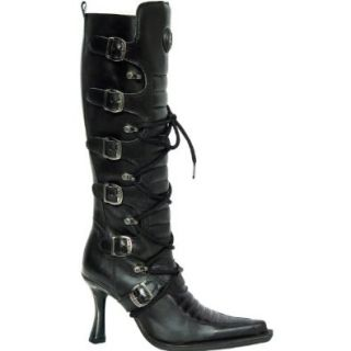 New Rock Women's Mod. 9674 S1 Boot,ITALI Y ROCK NEGRO, MALICIA TACON CARIBE ACERO, 42 EU (US Women's 11 D): Shoes