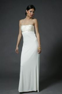 Elegant Ivory Evening Dress by Mary L Couture Size 10 ivory white: Clothing