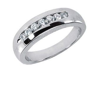 Men s Diamond Ring 7 Round Stones 0.05ct Total 0.35ctw 165 MDR1169: Wedding Bands Wholesale: Jewelry