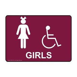 ADA Girls White on Burgundy Sign RRE 7045 WHTonBRG Womens / Girls