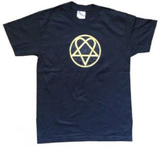 HIM   Heartagram   Black T shirt: Clothing