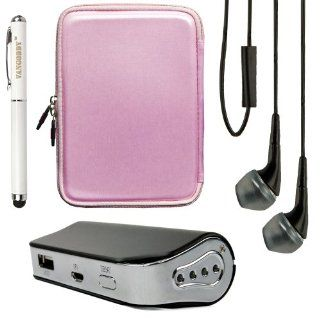 VG Candy Case for Asus Google Nexus 7 II / Asus Google Nexus 7 / Asus Memo Pad HD 7 / Asus Fonepad / Asus Memo Pad / Asus Eee MeMo 171 7inch Tablet + Naztech PB2200 Power Bank + Vangoddy Stylus Pen + Black Vangoddy Headphones (Pink): Computers & Access